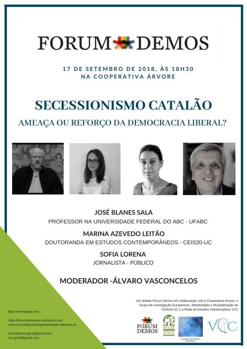 Secessionismo catalão - cartaz
