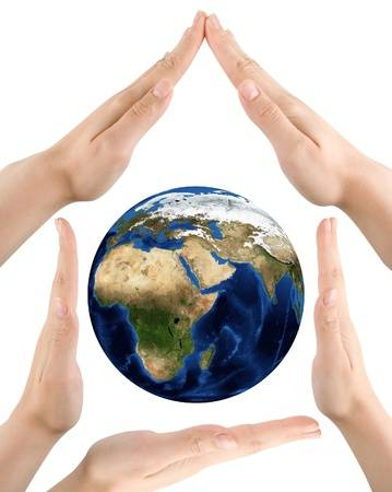 14936208-hands-and-planet-on-white-background-earth-our-home-concept